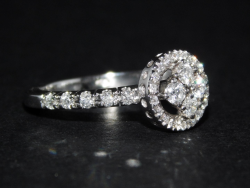 Ring White Gold 18 Ct 750 ! Diamonds VS-G 0,66 ct