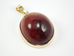 Pendant Yellow Gold 18 Ct 750 ! Gr. 13,10 carnelian 45,15 ct