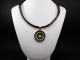 Necklace and pendant Bvlgari steel and yellow gold 18 Ct 750 !