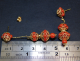 Earrings Yellow Gold 18 Ct 750 ! Gr. 6,35 Coral Mediterranean