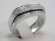 Ring Salvini White Gold 18 Ct 750 ! Diamonds VVS-VS F-G 0,25 ct